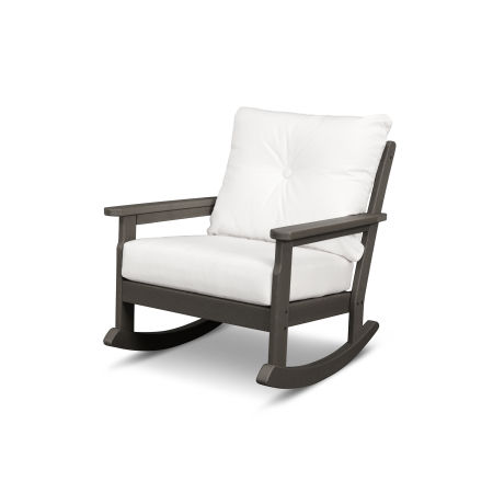 Vineyard Deep Seating Rocking Chair in Vintage Finish