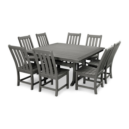 Vineyard 9-Piece Dining Set in Slate Grey