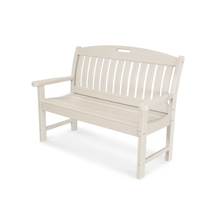 """Nautical 48"""" Bench in Sand"""