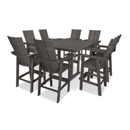 Modern Adirondack 9-Piece Farmhouse Bar Set in Vintage Finish