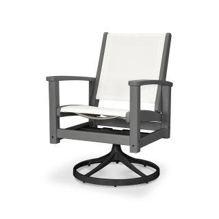Coastal Swivel Rocking Chair
