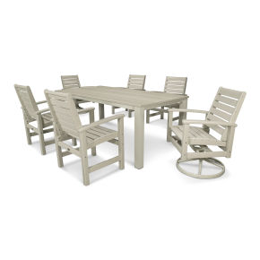 Signature 7-Piece Harvest Swivel Dining Set