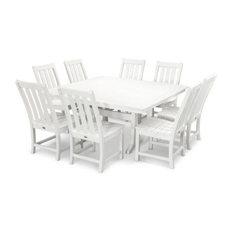 Vineyard 9-Piece Dining Set in White