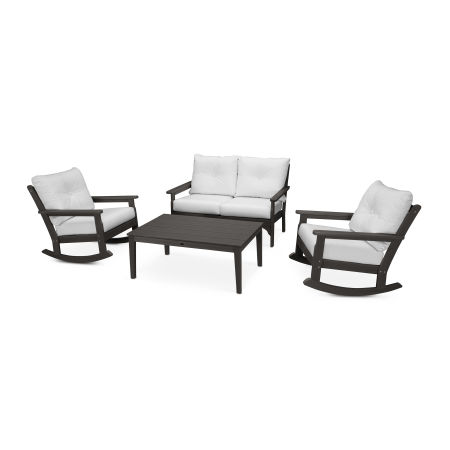 Vineyard 4-Piece Deep Seating Rocking Chair Set in Vintage Finish