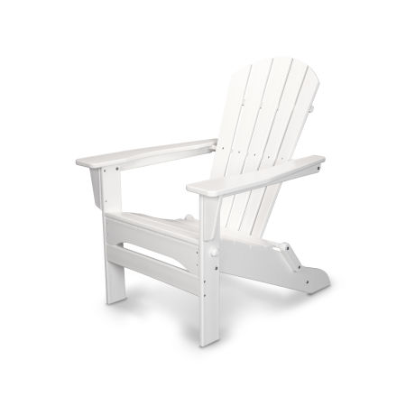 Palm Coast Folding Adirondack in White