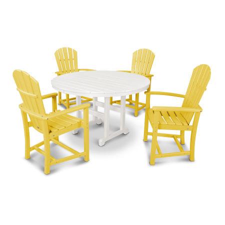 Palm Coast 5-Piece Dining Set in Lemon / White