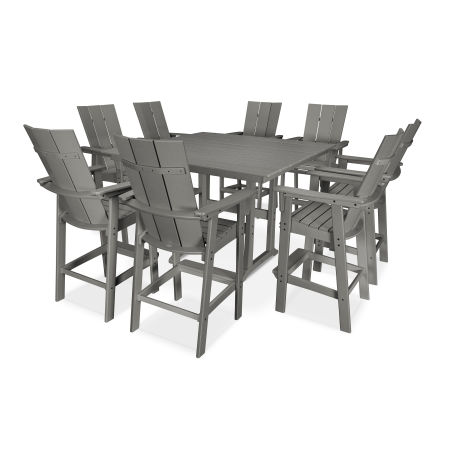 Modern Adirondack 9-Piece Farmhouse Bar Set