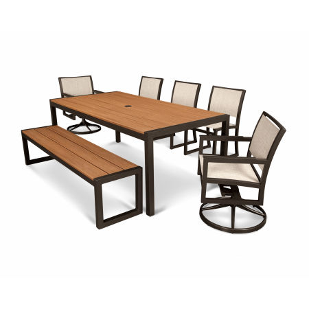 Parsons 7-Piece Bench Dining Set