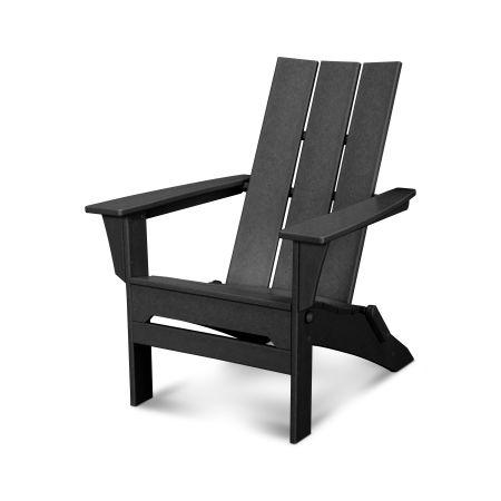 Modern Folding Adirondack in Black