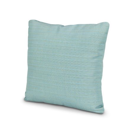 "20"" Outdoor Throw Pillow in Dupione Celeste"
