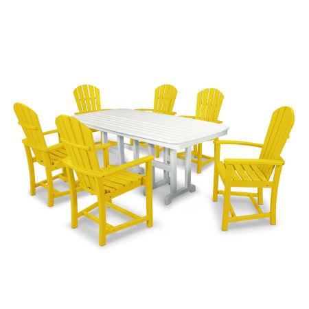 Palm Coast 7-Piece Dining Set in Lemon / White