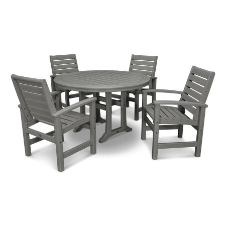 Signature 5-Piece Nautical Trestle Dining Set
