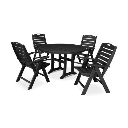5 Piece Nautical Dining Set in Black