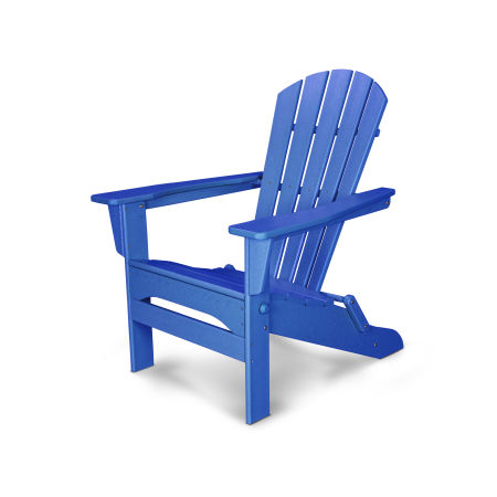 Palm Coast Folding Adirondack in Pacific Blue