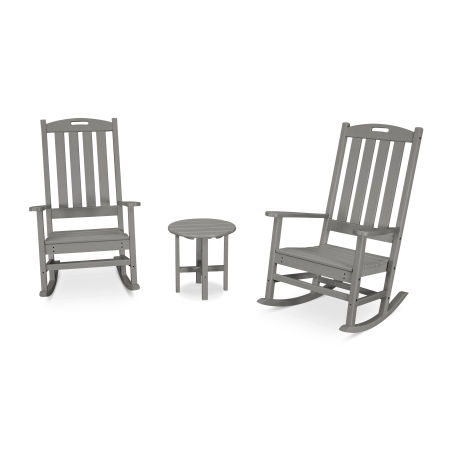 Nautical 3-Piece Porch Rocking Chair Set