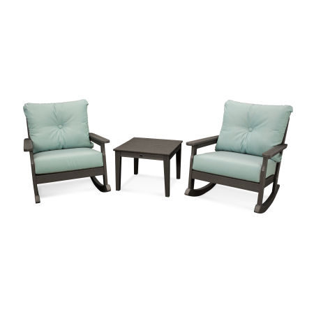 Vineyard 3-Piece Deep Seating Rocking Chair Set