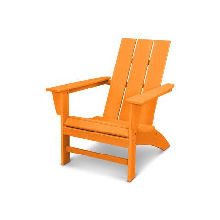 Modern Adirondack Chair in Vintage Tangerine