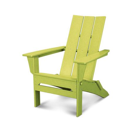 Modern Folding Adirondack in Lime