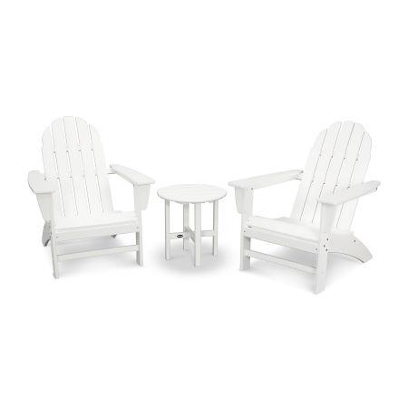 Vineyard 3-Piece Adirondack Set in White