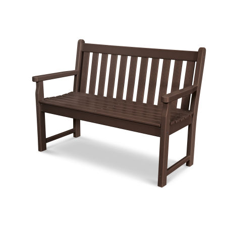 "Traditional Garden 48"" Bench in Mahogany"