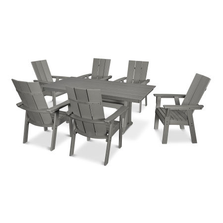 Modern Adirondack 7-Piece Farmhouse Dining Set