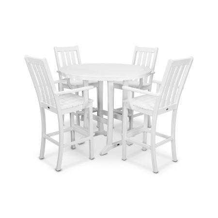 Vineyard 5-Piece Bar Set in White