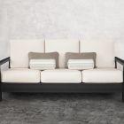 Modern Farmhouse 4-Piece Lumbar and Bolster Outdoot Pillow Set