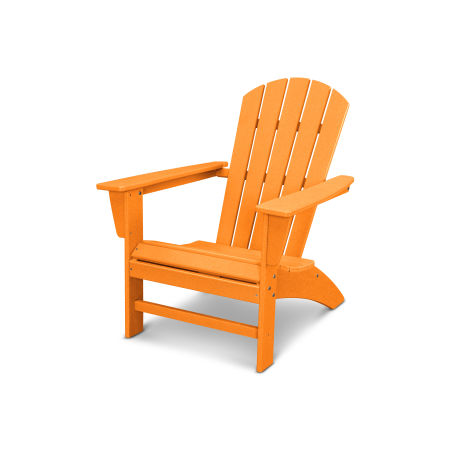 Nautical Adirondack Chair in Vintage Tangerine