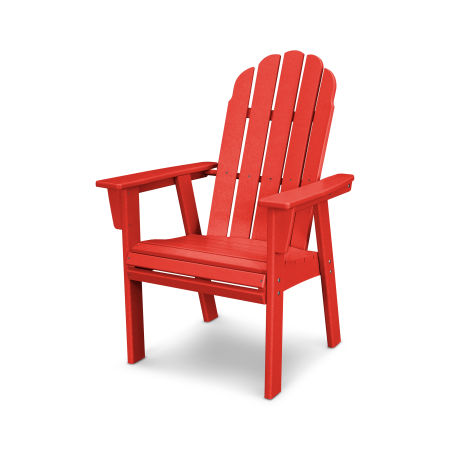 Vineyard Adirondack Dining Chair in Sunset Red