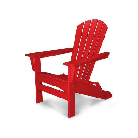 Palm Coast Folding Adirondack in Sunset Red