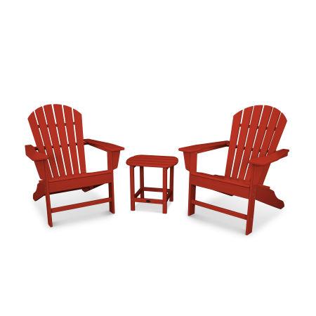 South Beach Adirondack 3-Piece Set in Crimson Red