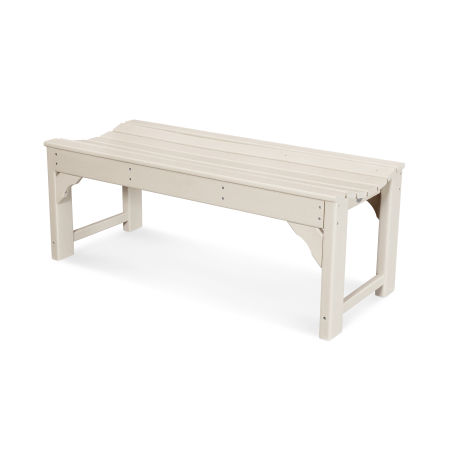 """Traditional Garden 48"""" Backless Bench in Sand"""