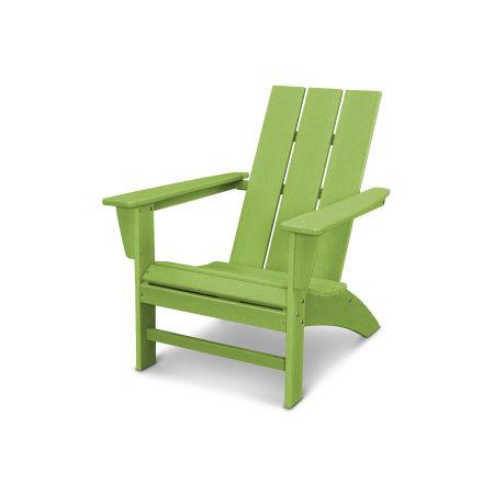 Modern Adirondack Chair in Vintage Lime
