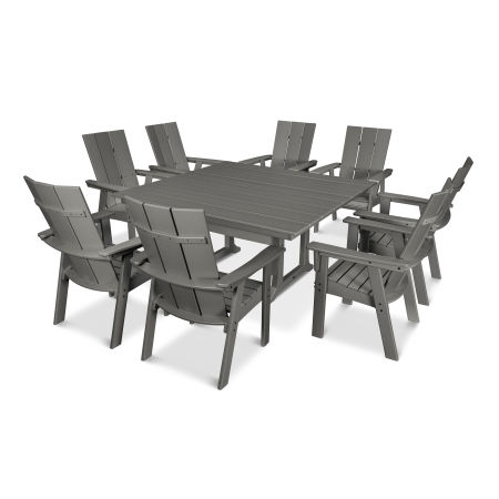 Modern Adirondack 9-Piece Farmhouse Dining Set