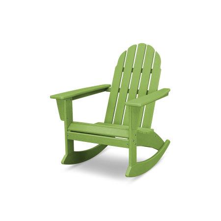 Vineyard Adirondack Rocking Chair in Vintage Lime
