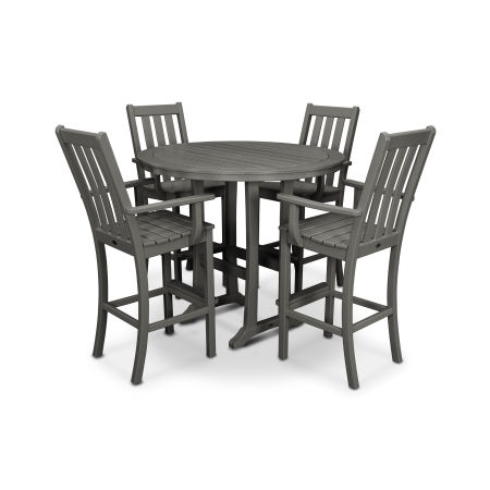 Vineyard 5-Piece Bar Set in Slate Grey