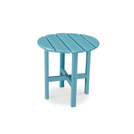 """Round 18"""" Side Table in Vintage Aruba"""