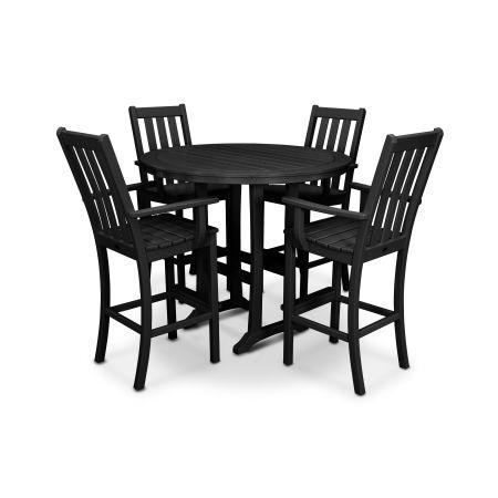 Vineyard 5-Piece Bar Set in Black