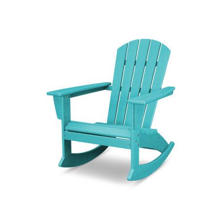 Nautical Adirondack Rocking Chair in Vintage Aruba