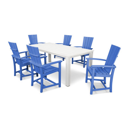 Quattro 7-Piece Dining Set  in Pacific Blue