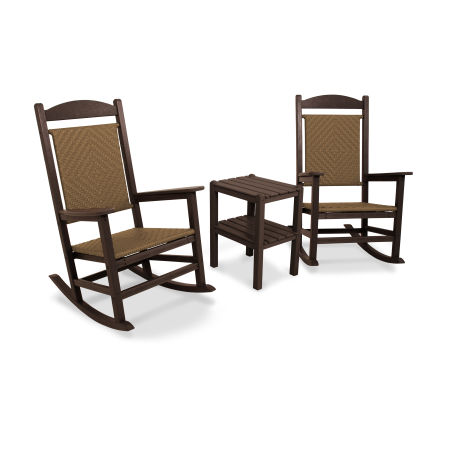 Presidential Woven Rocking Chair 3-Piece Set