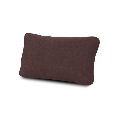 Outdoor Lumbar Pillow in Cast Currant