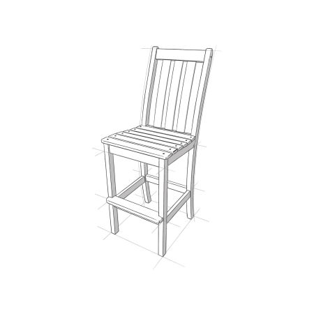 Vineyard Bar Side Chair in Vintage White