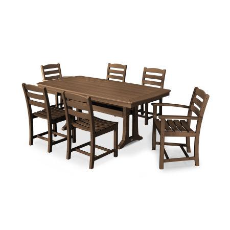 La Casa Café 7 Piece Dining Set in Teak