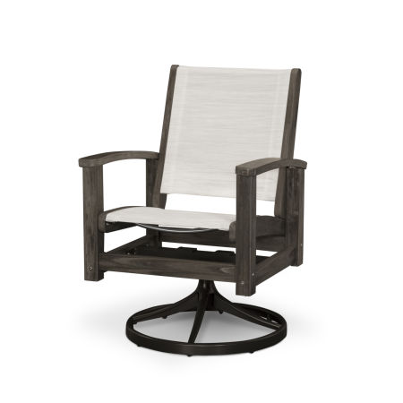 Select Coastal Swivel Rocking Chair Dining Chair