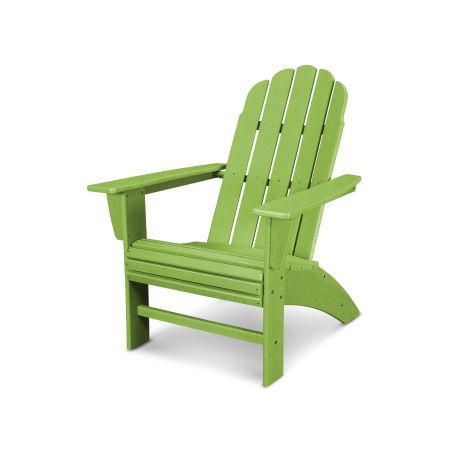 Vineyard Curveback Adirondack Chair in Vintage Lime
