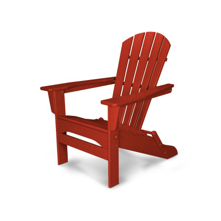 Palm Coast Folding Adirondack in Crimson Red