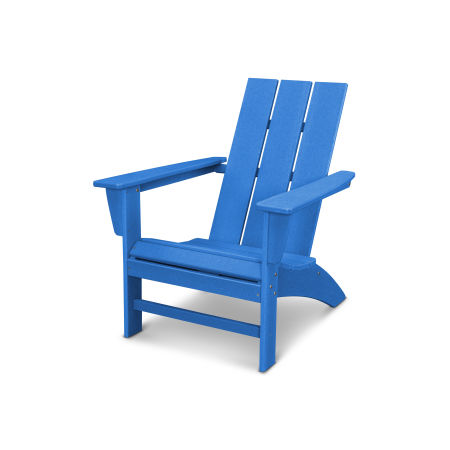 Modern Adirondack Chair in Vintage Pacific Blue