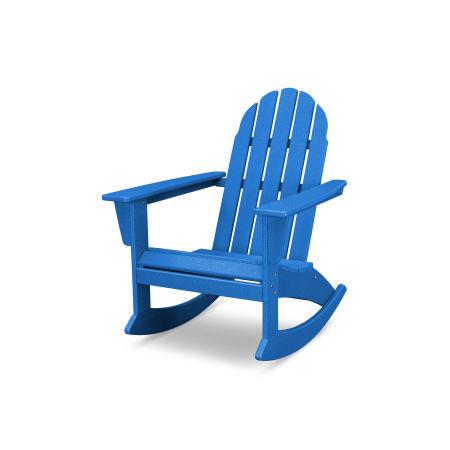 Vineyard Adirondack Rocking Chair in Vintage Pacific Blue