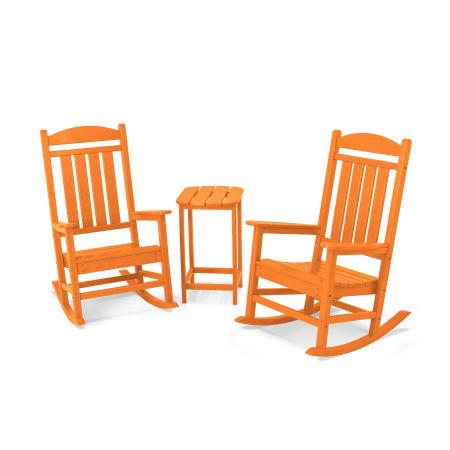 Presidential Rocker 3-Piece Set in Tangerine